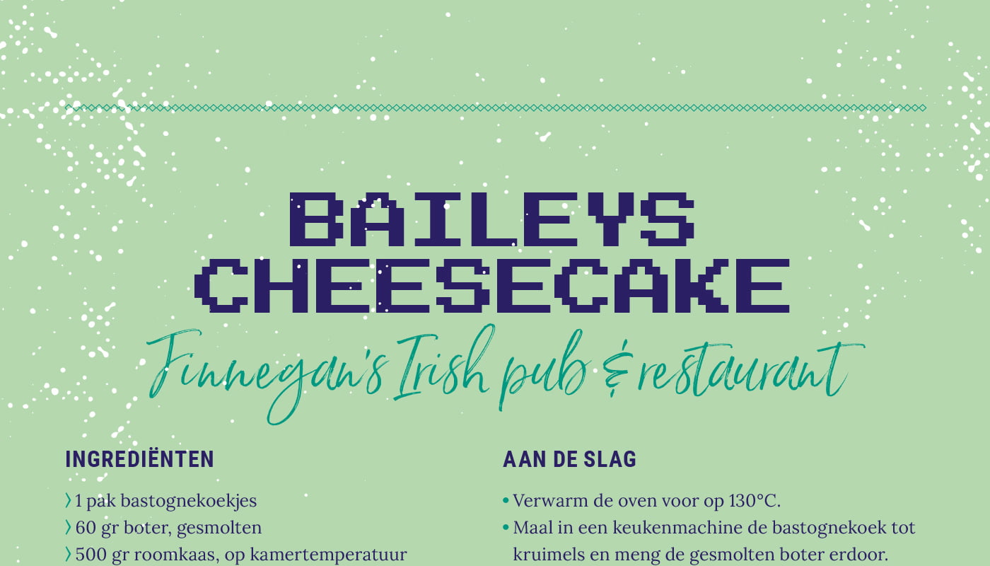 Baileys cheesecake van  Finnegan's Irish pub & restaurant