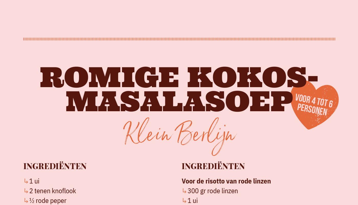 Romige kokos-masalasoep van Klein Berlijn