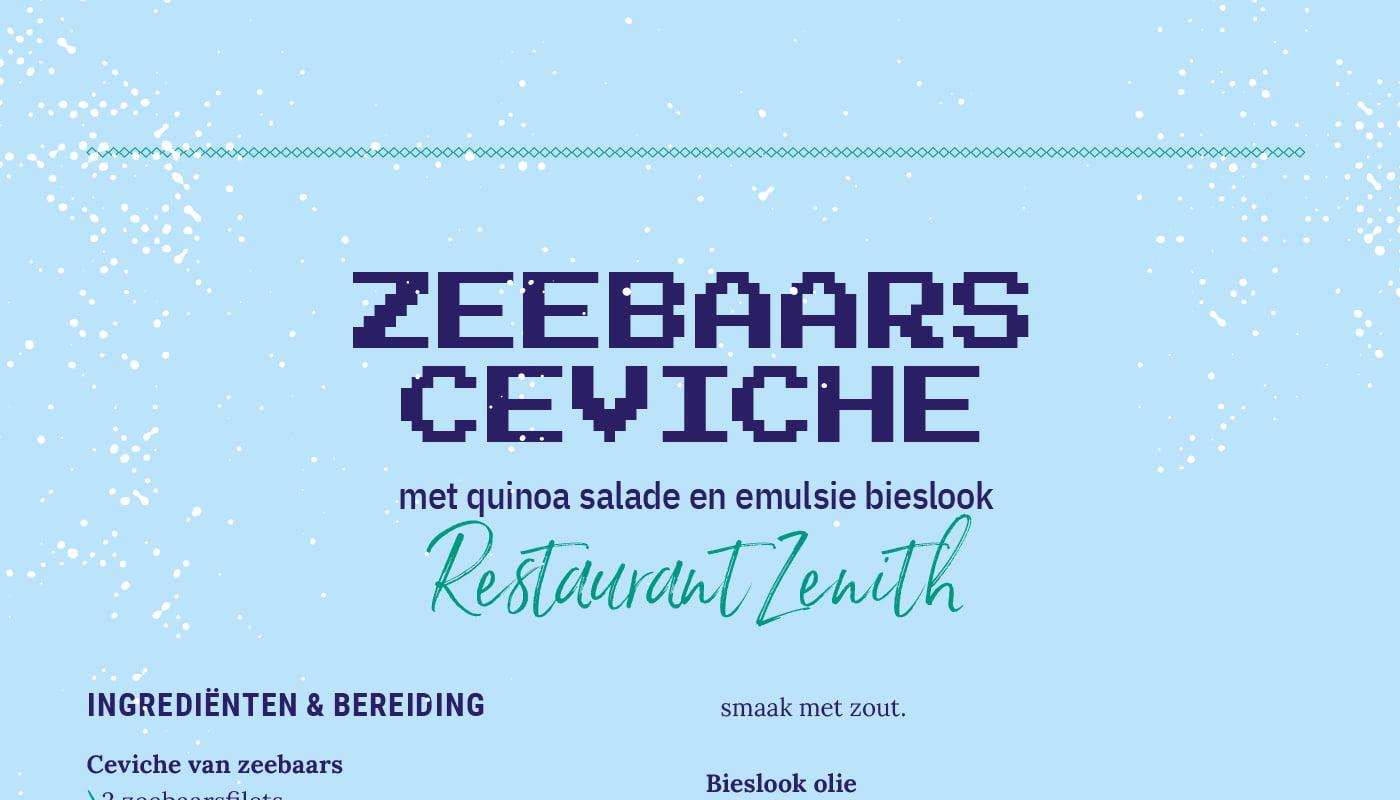 Zeebaars ceviche van Restaurant Zenith