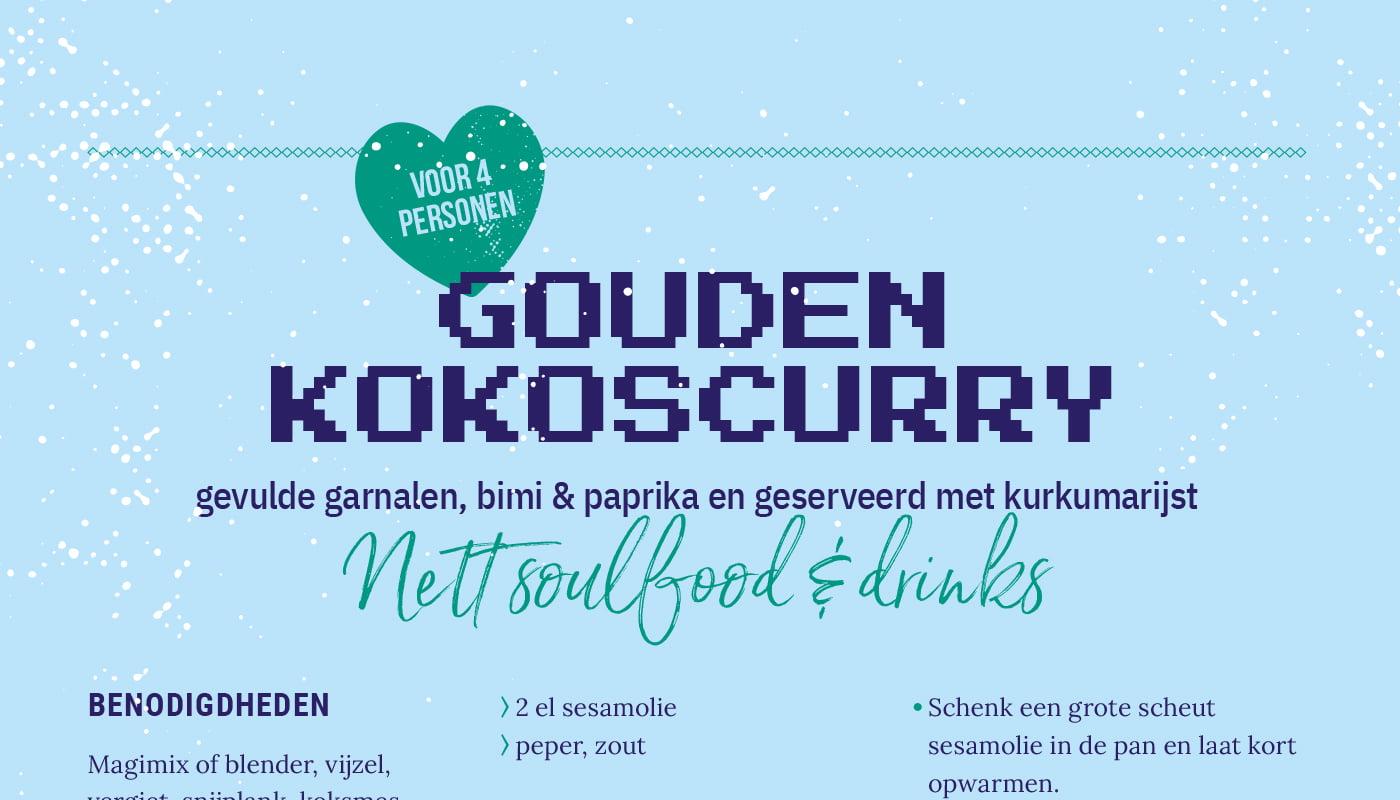 Gouden kokoscurry van NETT Soulfood & Drinks