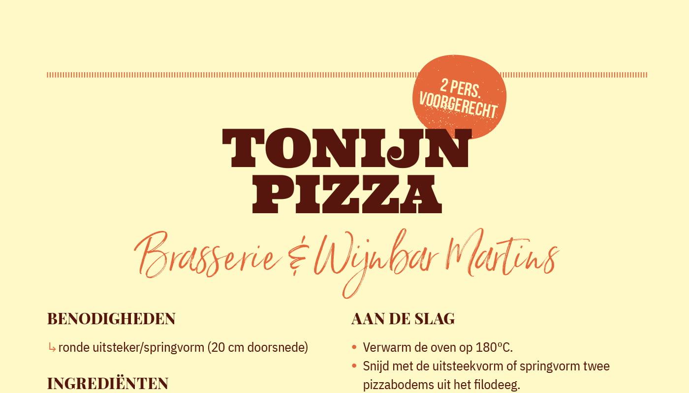 Tonijn pizza van Brasserie & Wijnbar Martins