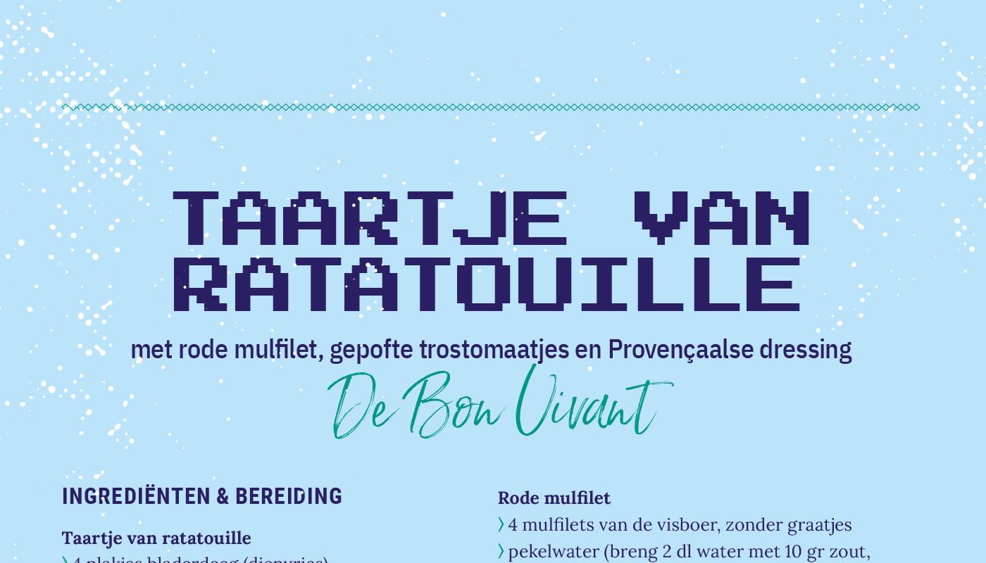 Taartje van ratatouille - Restaurant De Bon Vivant