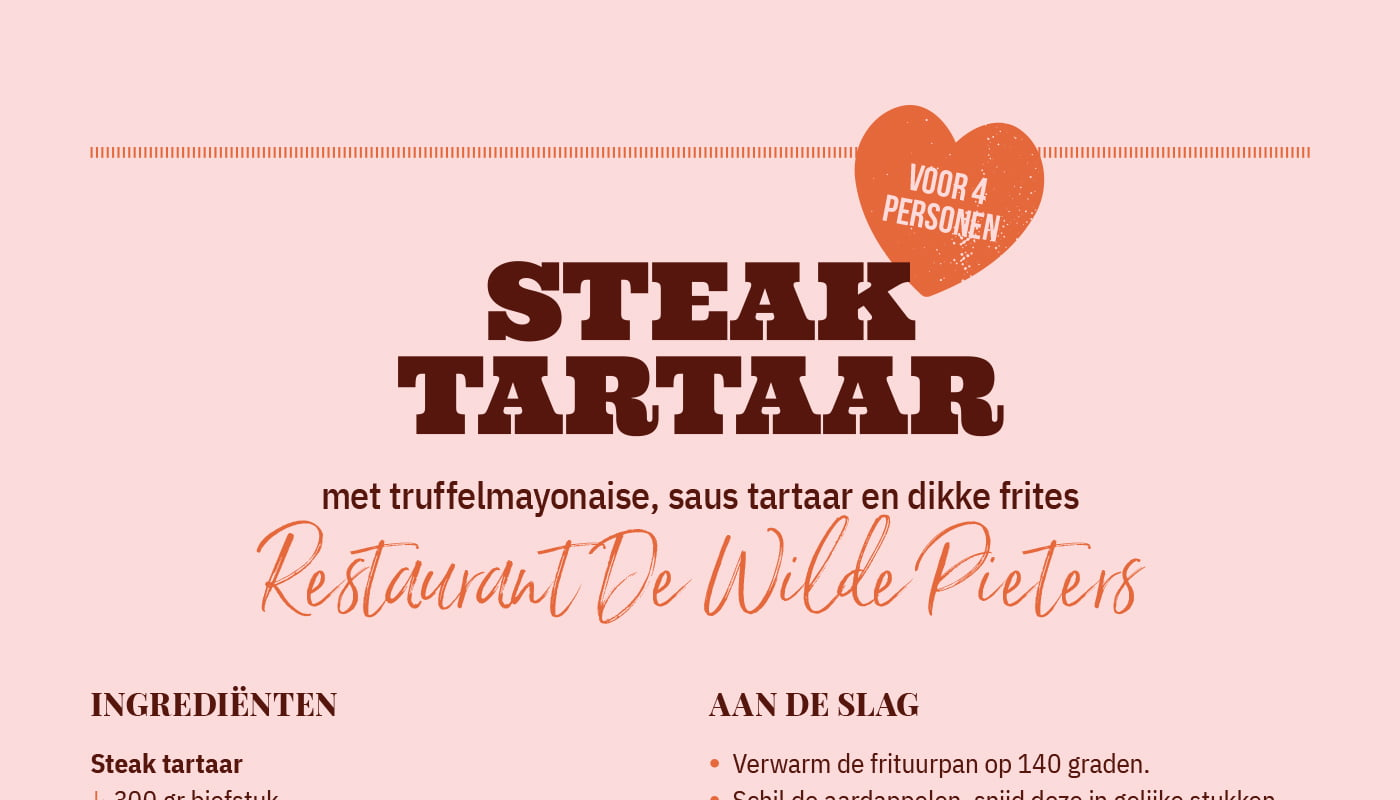 Steak tartaar van Wilde Pieters Restaurant & Grand Café