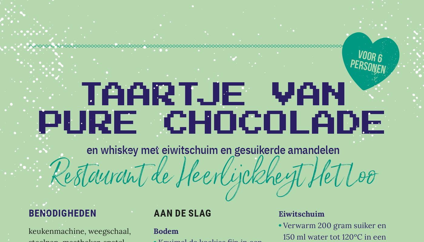 Taartje van pure chocolade - Restaurant de Heerlijckheyt Het Loo