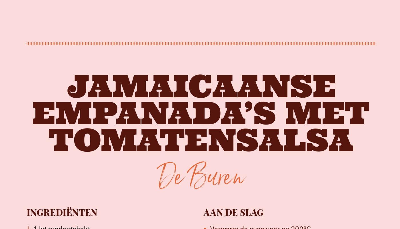 Jamaicaanse empanada's met tomatensalsa van Cafe De Buren