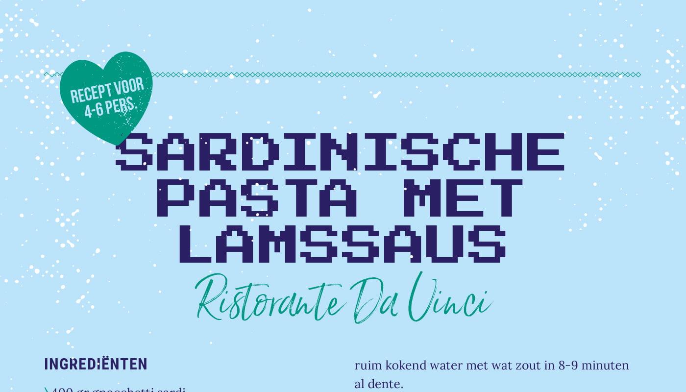 Sardinische pasta met lamssaus van Ristorante Da Vinci
